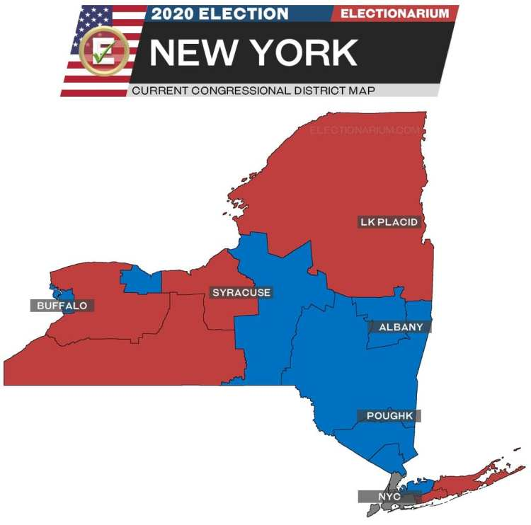 2020 New York House Races - pre-election map