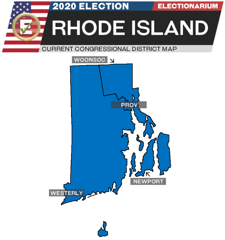 2020 Rhode Island House Races - pre-election map