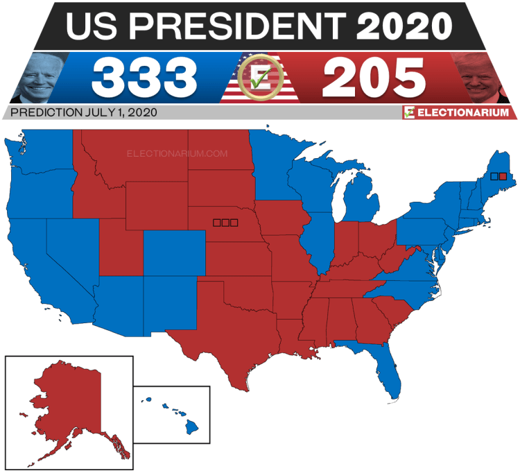 2020 US Presidential Election Prediction - 7-1-20