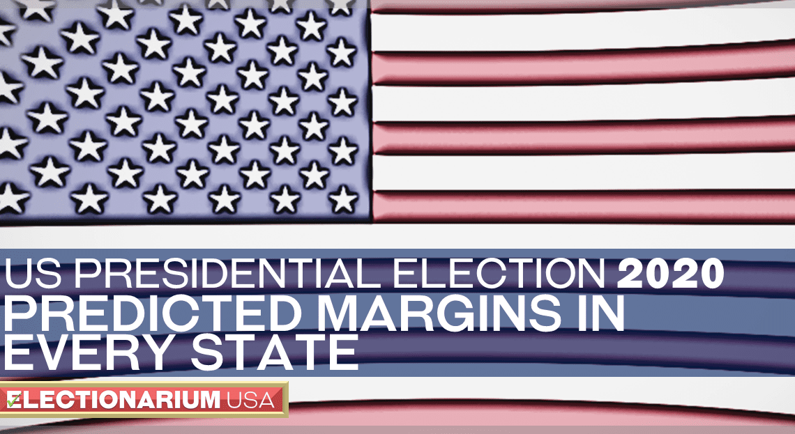2020 US Presidential Election Predicted Margins