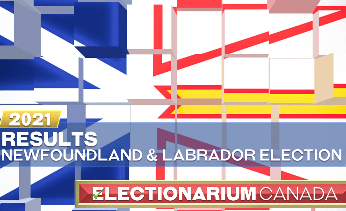 2021 Newfoundland and Labrador Election - Results