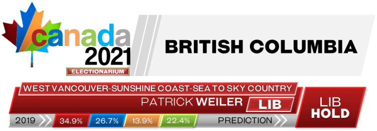 BC West Vancouver—Sunshine Coast—Sea to Sky Country prediction 2021 Canadian election 9-17-21