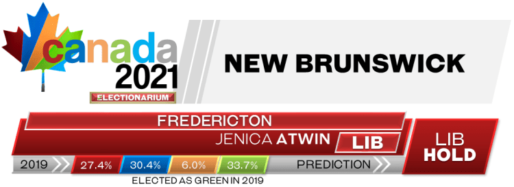 NB Fredericton prediction 2021 Canadian election 9-17-21