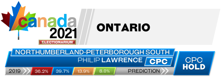 ON Northumberland—Peterborough South prediction 2021 Canadian election