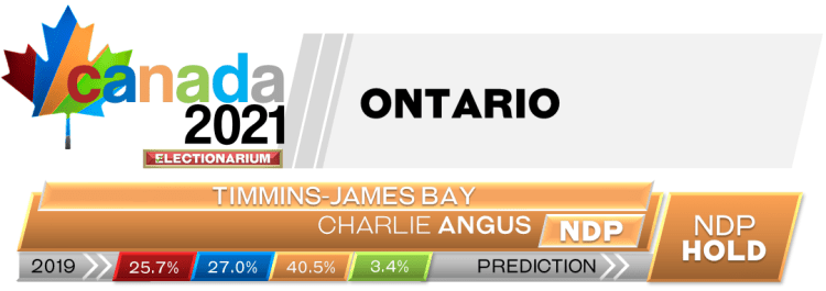 ON Timmins—James Bay prediction 2021 Canadian election