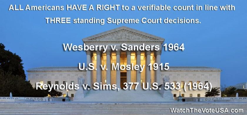 Three Supreme Court Decisions Right To Vote copy