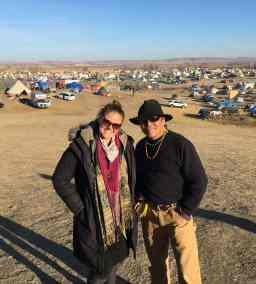 Andrea at Standing Rock