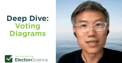 """Photo of Ka-Ping Yee next to text that says """"Deep Dive: Voting Diagrams"""""""
