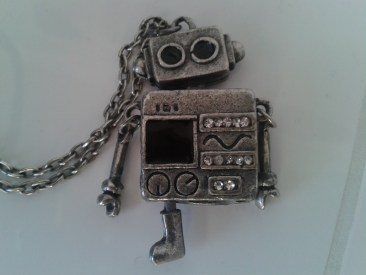 Robot necklace, from Anna