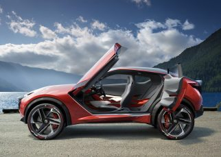 Although maintaining a similar footprint to a compact crossover, the Nissan Gripz Concept has the silhouette of a sports car with a raised ride height, equipped to conquer more challenging driving conditions.