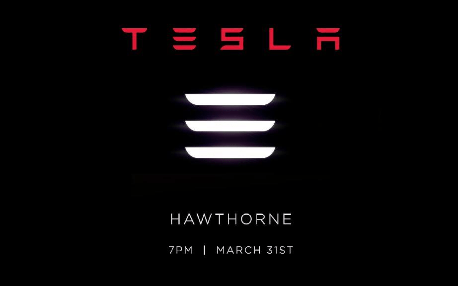 Tesla Sends Out Official Model 3 Unveiling Invites With 3