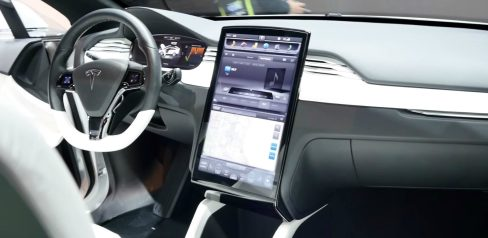 Model X prototype interior