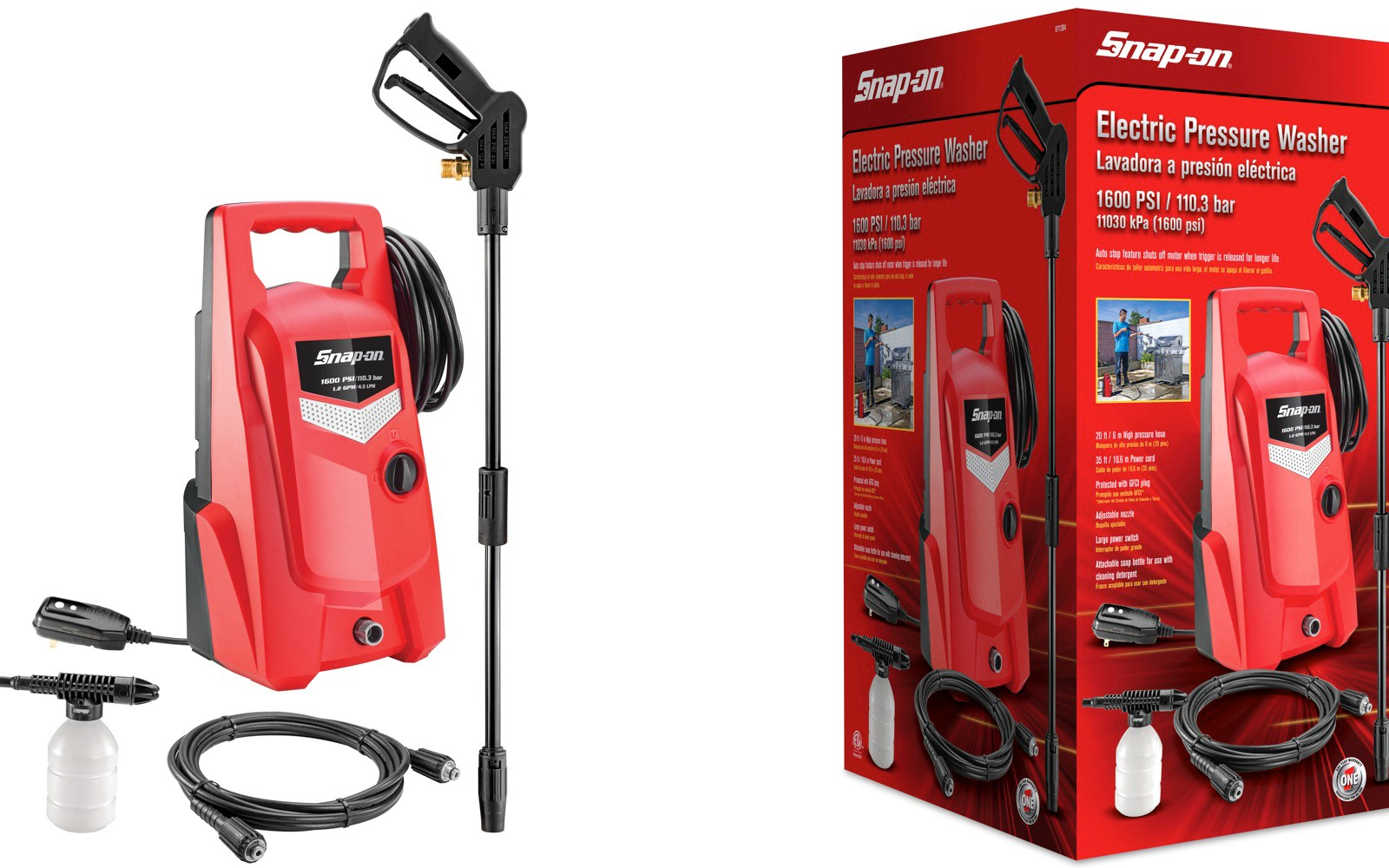 Green Deals Snap On 1600psi Electric Power Washer 90 Shipped Reg 120 More