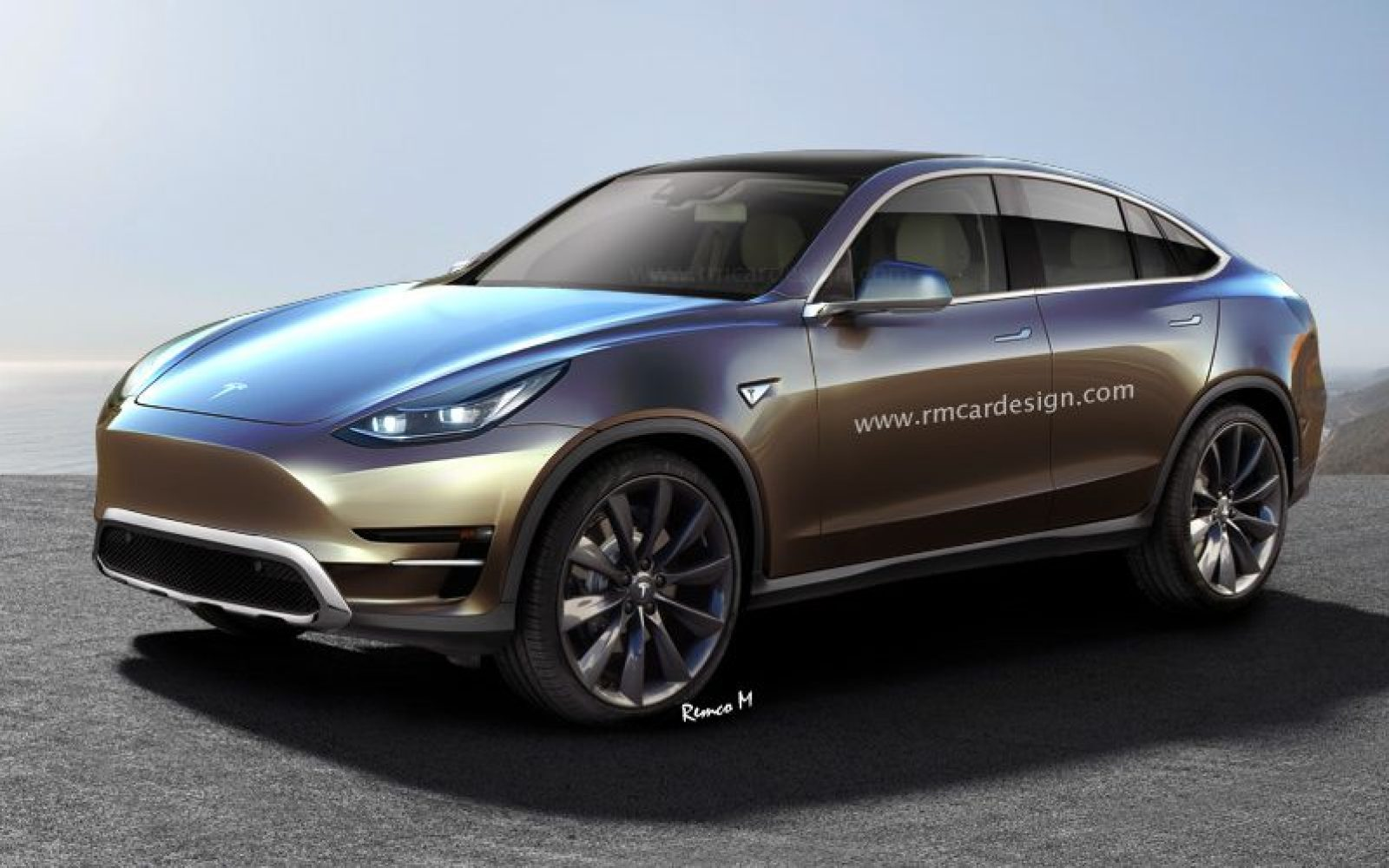 Tesla Model Y visualized with unofficial renderings - Electrek