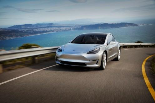 Tesla Model 3 Silver Prototype 2