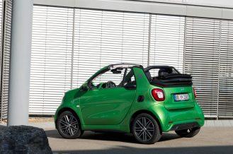 smart cabrio electric drive ;Elektrischer Energieverbrauch gewichtet: 13,0 kWh/100km ; CO2-Emissionen kombiniert: 0 g/km smart cabrio electric drive; Electric power consumption, weighted: 13.0 kWh/100km; CO2 emissions combined: 0 g/km