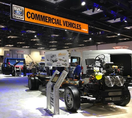Electrified Chassis in Ford Booth at WTS'17