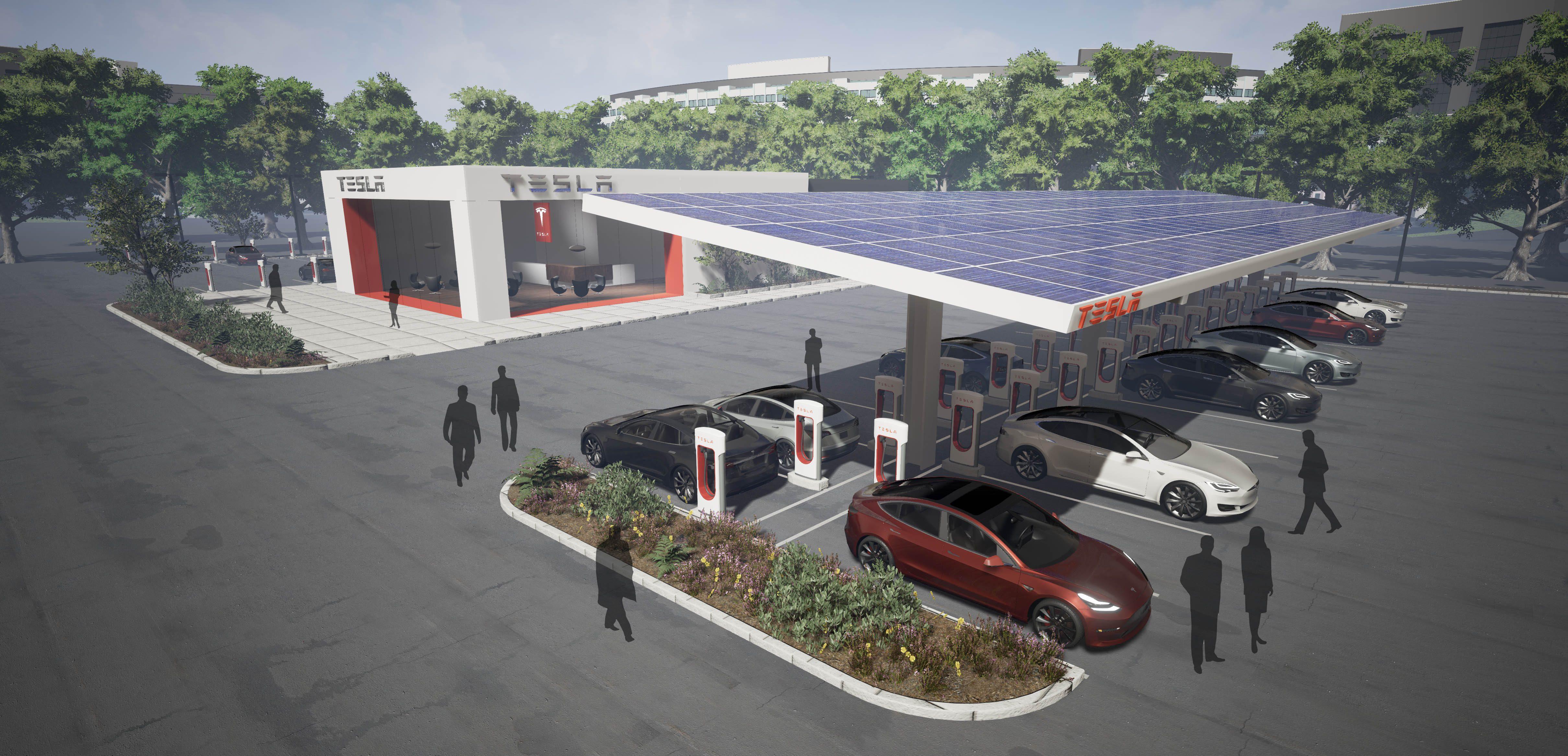 Tesla supercharger station locations