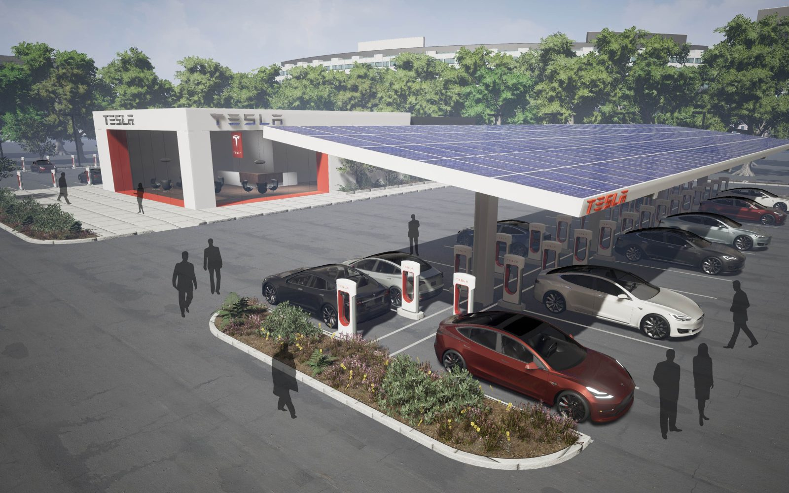 Tesla announces new Supercharger stations with 'several dozen' chargers ahead of Model 3 launch