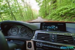 310 interior dashboard navigation system Electrek BMW 330e Hybrid 3 series sports sedan review