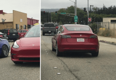 Tesla model 3 signature red 3