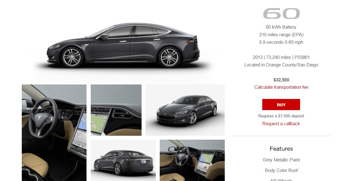 Tesla pre owned financing