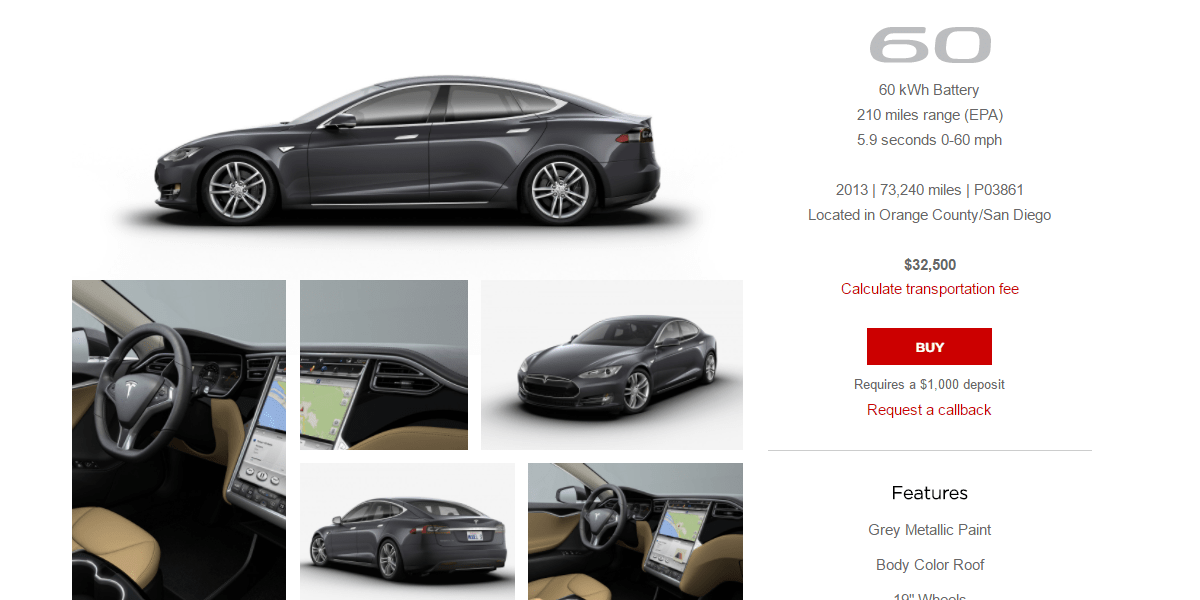Tesla Adds Lots Of Certified PreOwned Model S Vehicles For Less - Audi certified pre owned warranty review