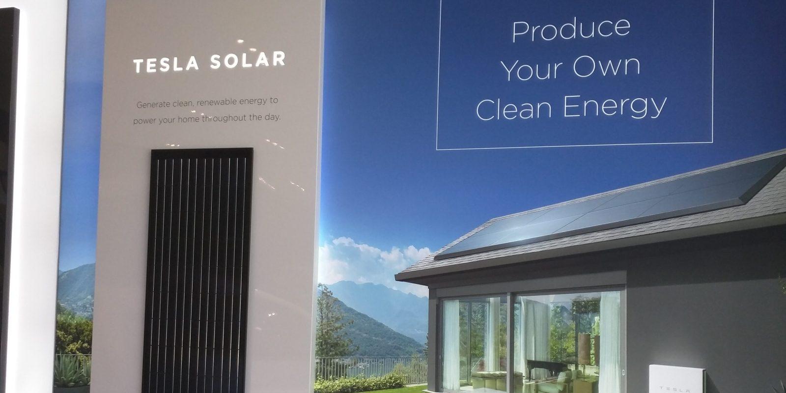 Tesla starts displaying new \'Tesla Solar\' branded solar panels in ...