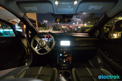 119 interior night dashboard lights New Nissan Leaf 2018 National Drive Electric Week Bridgewater NJ-76