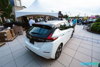 20 New Nissan Leaf 2018 rearview trunk design lights National Drive Electric Week Bridgewater NJ-37