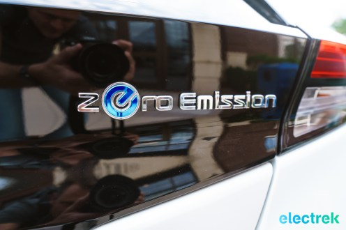 54 New Nissan Leaf 2018 zero emission logo trunk National Drive Electric Week Bridgewater NJ-7