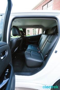 59 New Nissan Leaf rear seats passenger leg room 2018 National Drive Electric Week Bridgewater NJ-12