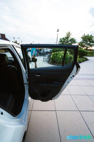81 New Nissan Leaf 2018 rear passenger door open National Drive Electric Week Bridgewater NJ-35