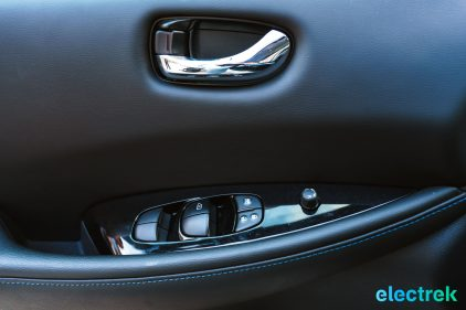 90 driver door interior buttons New Nissan Leaf 2018 National Drive Electric Week Bridgewater NJ-47