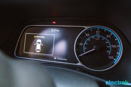 96 dashboard dials New Nissan Leaf 2018 National Drive Electric Week Bridgewater NJ-53