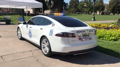 Tesla Model S police denver 1