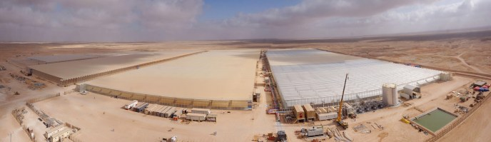 Sand covered facility in Oman.