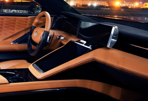 LAS VEGAS (January 8, 2018) – A new era in emotionally stirring electric luxury vehicle design – complemented with global technological breakthroughs in battery technology for charging EVs and personal consumer electronics alike – is arriving at CES 2018 with Fisker's two global launches. Fisker Inc., designer and manufacturer of the world's most desirable electric vehicles, is unveiling the stunning Fisker EMotion luxury electric sedan for the first time at CES, starting Jan. 9 at booth #3315. (PRNewsfoto/Fisker Inc.)