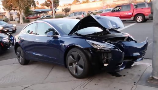 Tesla Model 3 crash 2
