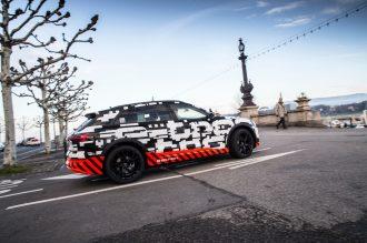 The Audi e-tron prototype in Geneva