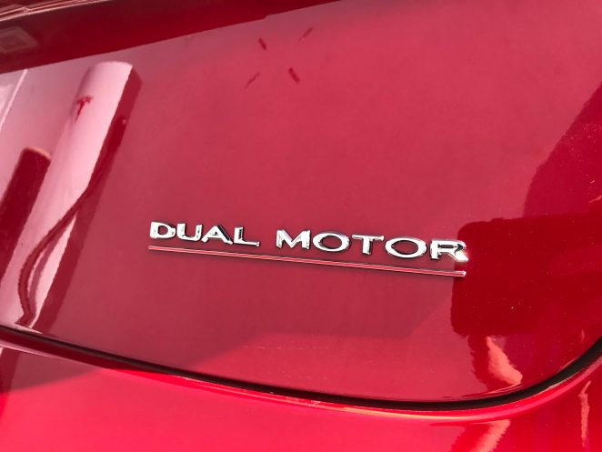 Tesla MOdel 3 performance dual motor badge