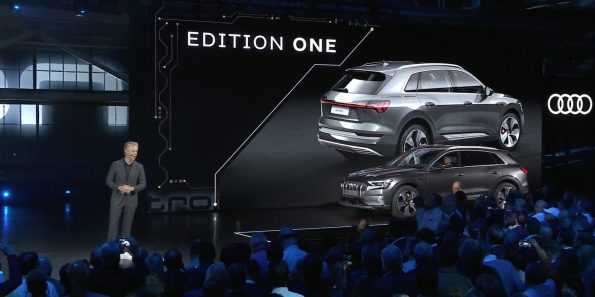 Audi E-Tron World Launch Edition One rear