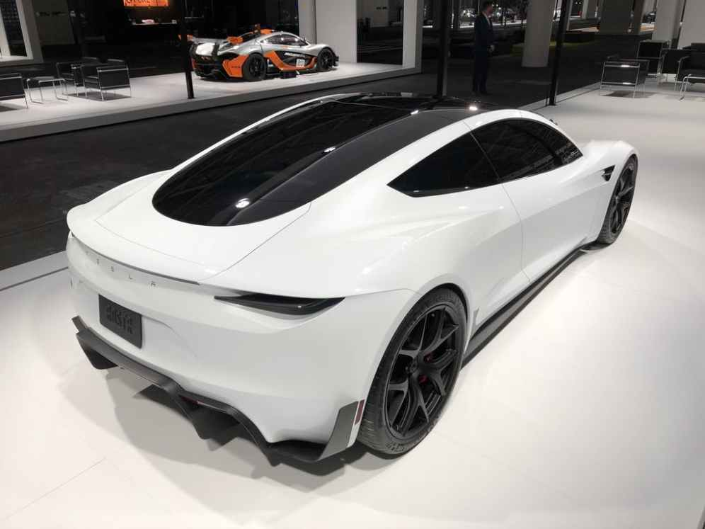 Tesla white roadster 5
