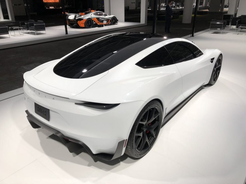 Tesla Roadster Makes Car Show Debut At Grand Basel Electrek