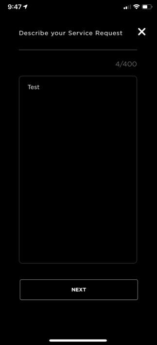 Tesla mobile app service 3