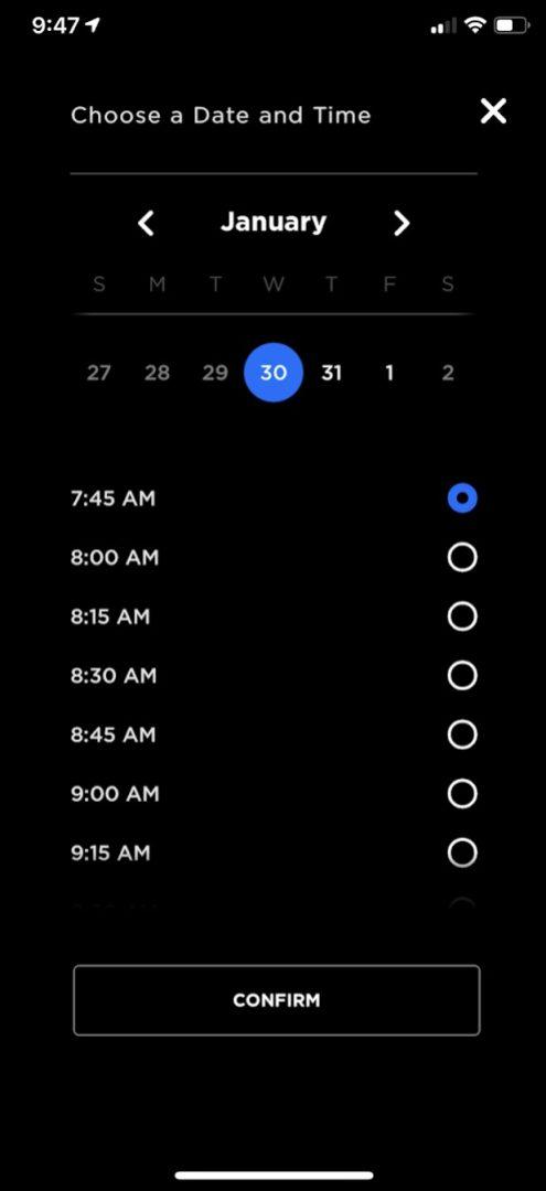 Tesla mobile app service 5