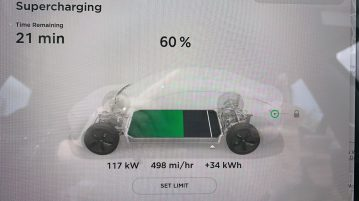 Tesla Supercharger V2 charge rate 4