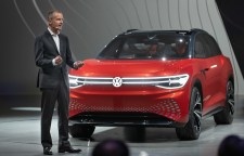 Dr. Herbert Diess, Chairman of the Board of Management of Volkswagen Aktiengesellschaft, presented the newest member of the ID. Family: the Volkswagen ID. ROOMZZ Showcar.