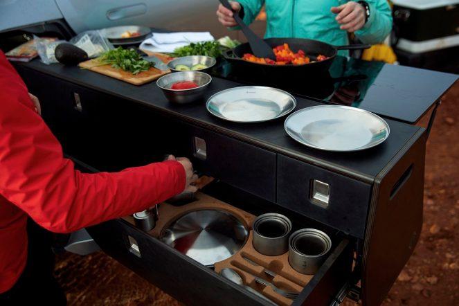 Rivian camper kitchen system2