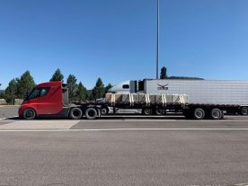 Tesla SEmi electric truck range test 1